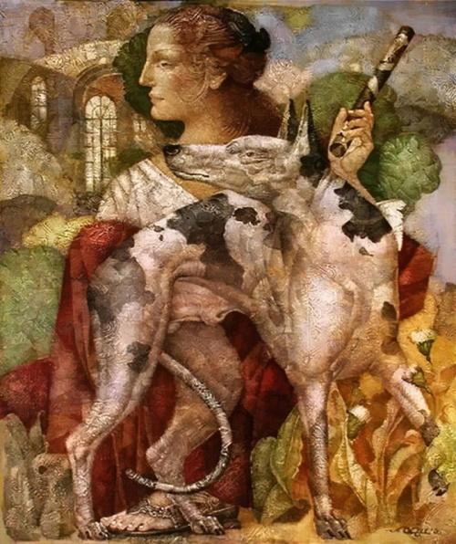 Неуловимое настроение художника Александра Сигова (26 фото)