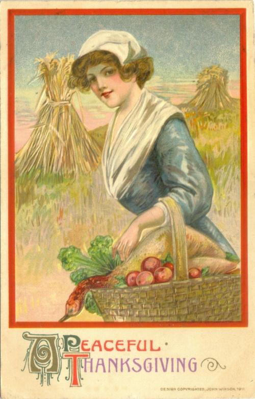 Коллекция открыток ко Дню Благодарения (194 фото)