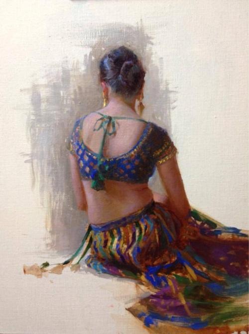 Масляная живопись. Художница Suchitra Bhosle (21 фото)