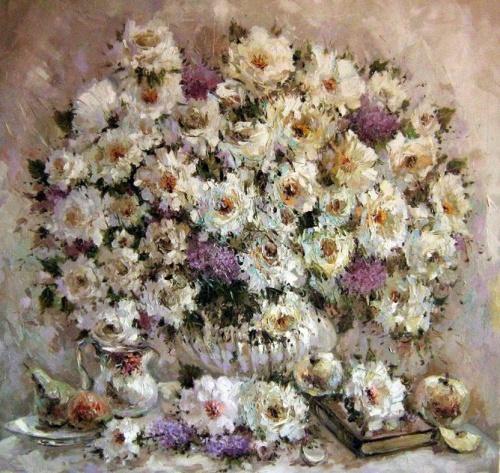 Работы художницы Юлии Кузнецовой (Цветы) (29 работ)