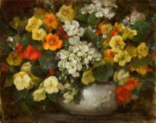 Цветочные картины. Художница Stephanie Birdsall (21 работ)
