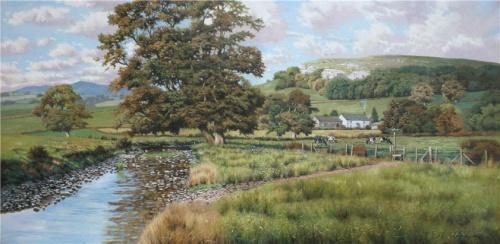 Умиротворяющие сельские пейзажи Англии художника-самоучки Tony Wooding (17 работ)