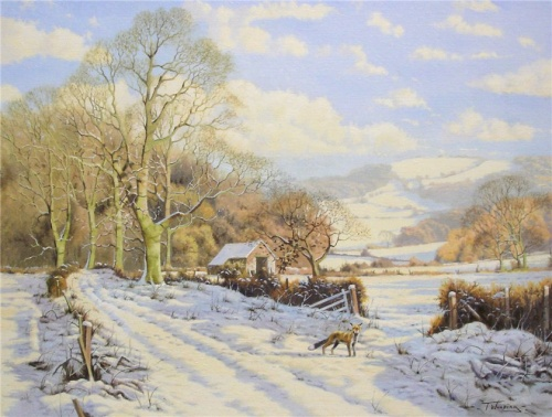 Умиротворяющие сельские пейзажи Англии художника-самоучки Tony Wooding (17 фото)