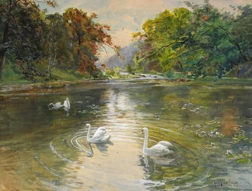 Шведский художник Anna Gardell-Ericson (1853 - 1939)