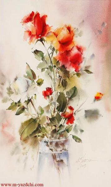 Художник Mohammad Yazdchi. Акварель (69 фото)