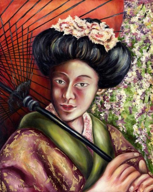 Живопись маслом художника Hiroko Sakai (20 фото)