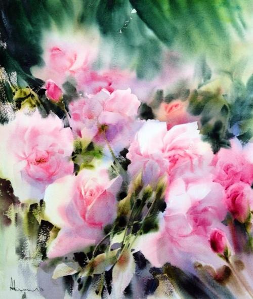 Художник Adisorn Pornsirikarn. Акварель. Великолепные цветы (41 работ)