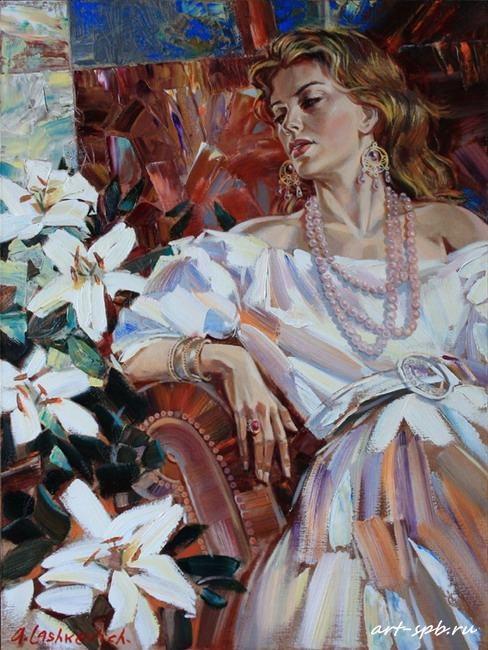 Работы художника Алексея Лашкевича (Женские образы) (25 работ)