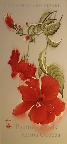 Живопись на шелке Алины Осеевой (19 фото)