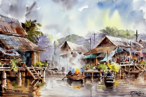 Художник из Тайланда Thanakorn Chaijinda (42 фото)