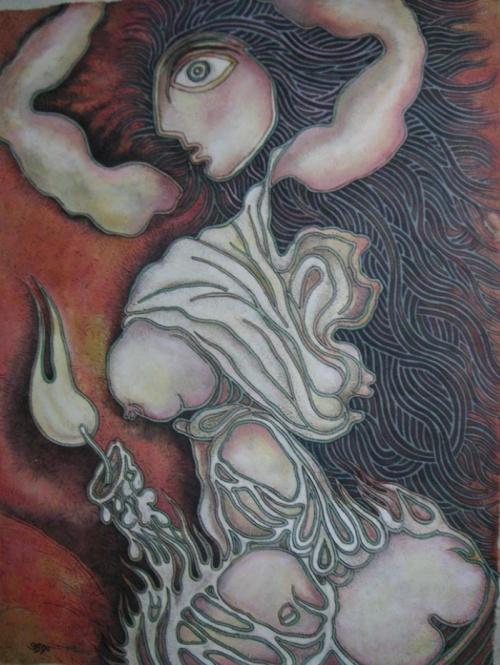 Работы современного художника Индии Prokash Karmakar (20 фото)