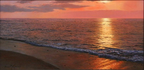Испанский художник Alfredo Navarro. Море (28 работ)