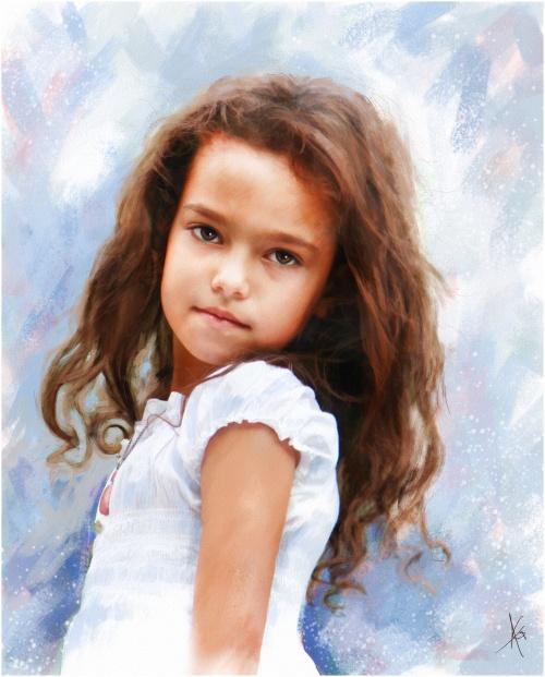 Женские и детские образы от Альберто Гильена 2 (60 фото)
