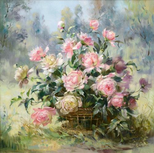 Нежные натюрморты художницы Вьюговой Риммы Николаевны (34 работ)