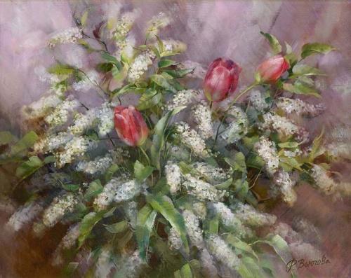 Нежные натюрморты художницы Вьюговой Риммы Николаевны (34 фото)