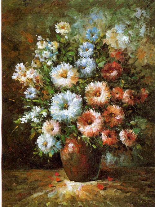 Подборка картин известных художников - Букеты цветов, натюрморт (51 фото)
