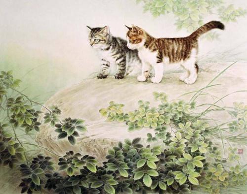 Китайские коты в живописи (31 фото)