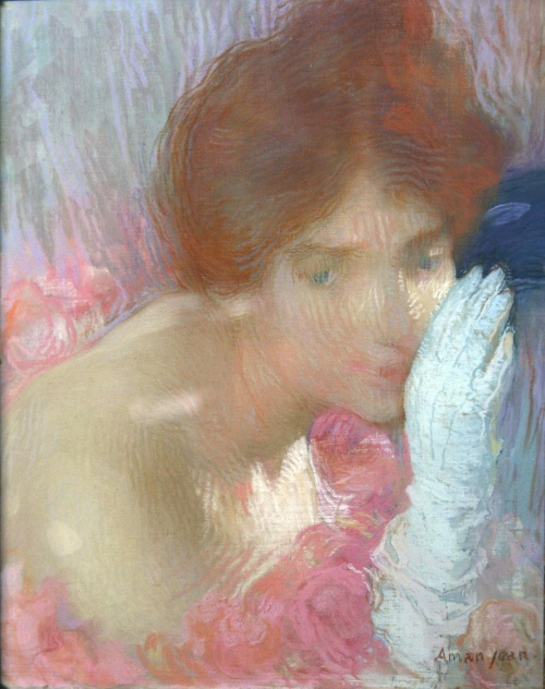 Artworks by Edmond Francois Aman-Jean