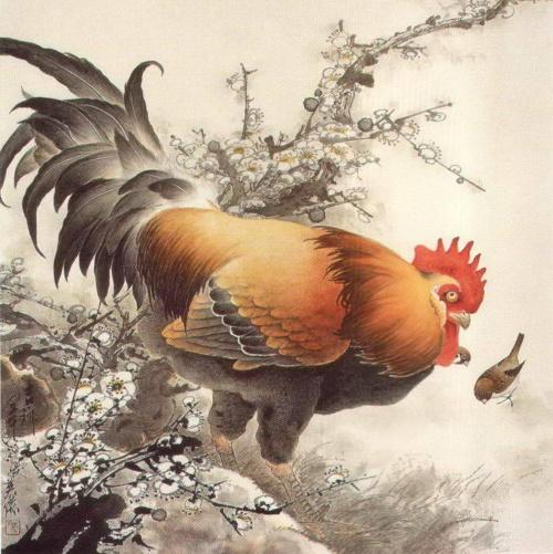 Китайская живопись – Петухи, куры, цыплята (33 фото)