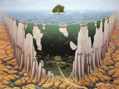 Jacek Yerka painter of the fantasy worlds (29 работ)