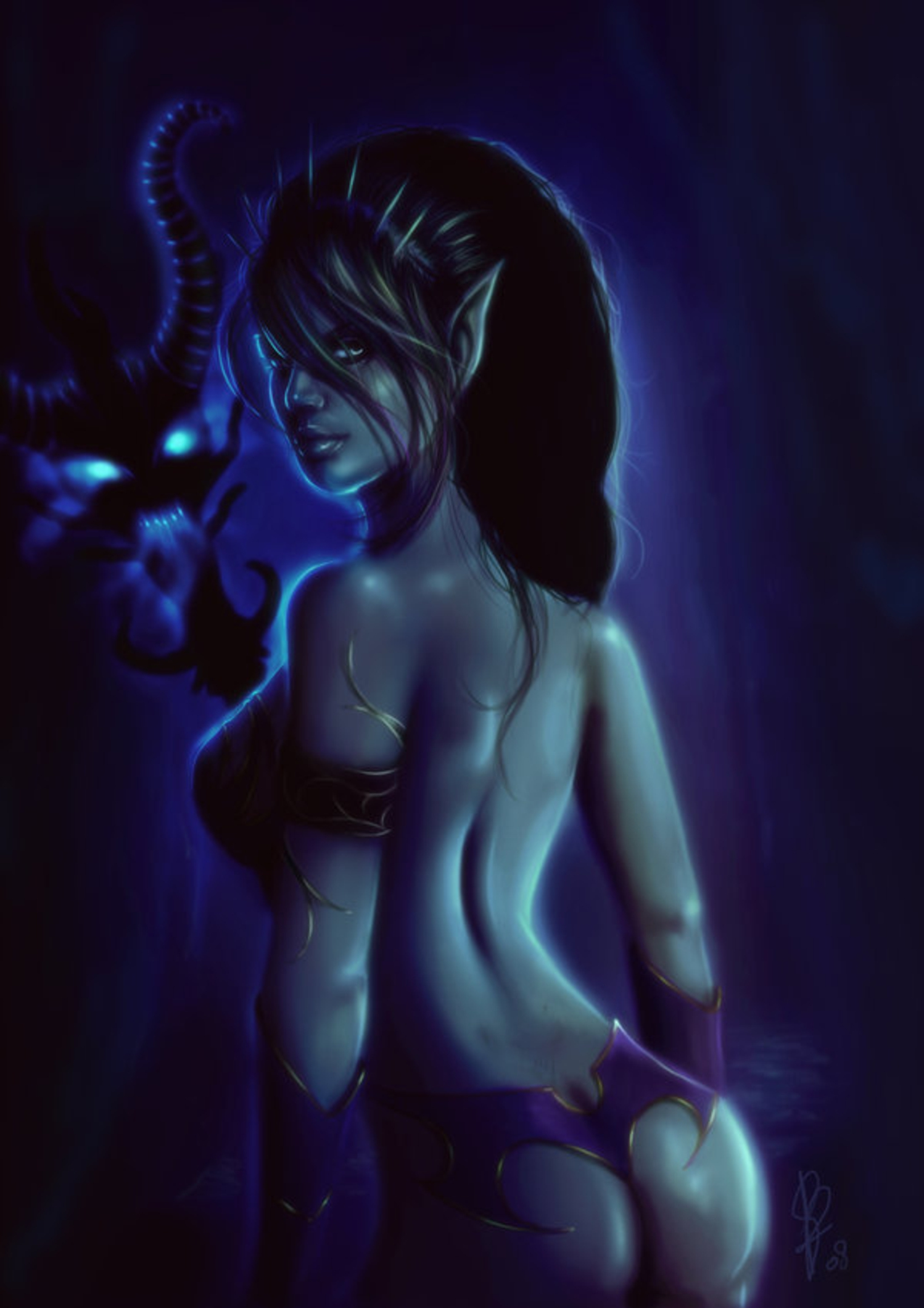 Sexy dark elf girls adult pic