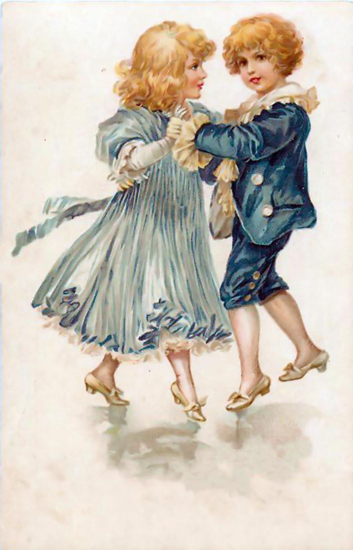 Старинные открытки с детками 20