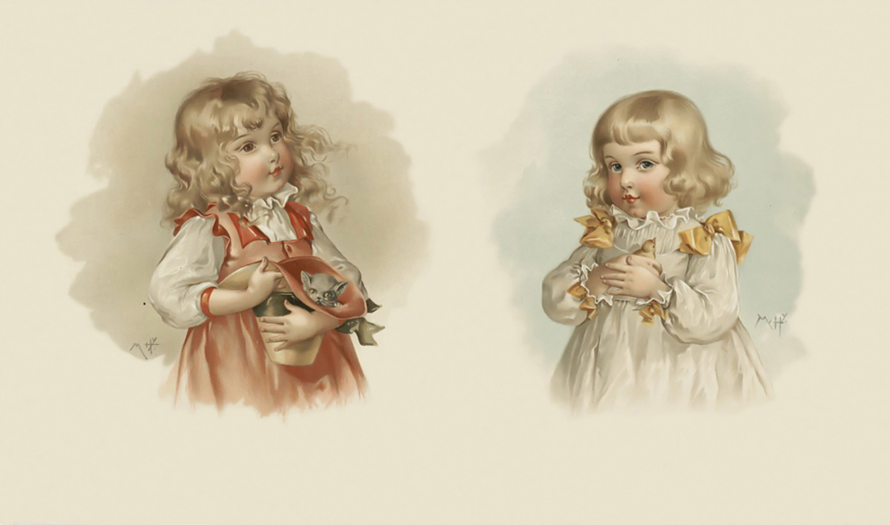 Старинные открытки с детками 41