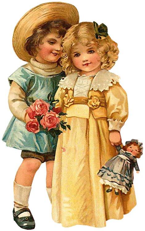 Девочка с куклой открытка 3