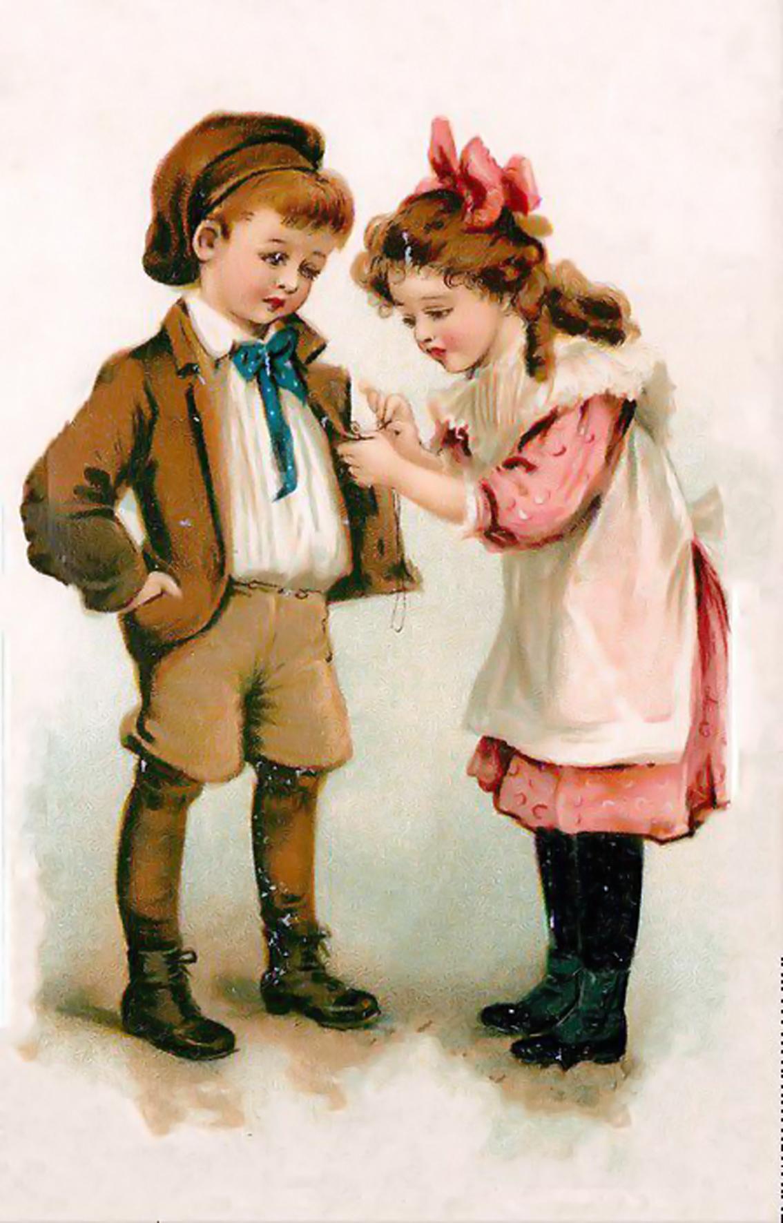 Старинные открытки с детками 100
