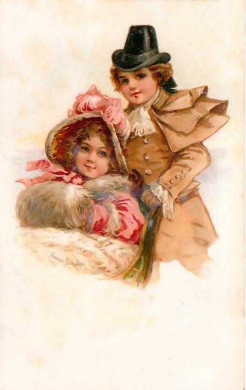 Винтажные открытки - Детки (71 фото)