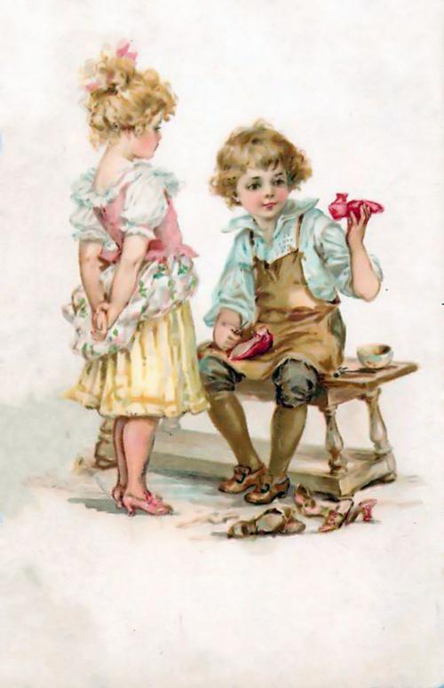 Старинные открытки с детками 28