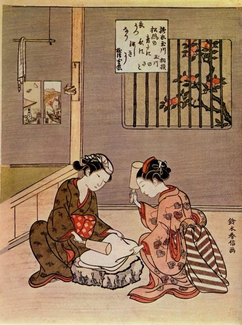 Судзуки Харунобу (Suzuki Harunobu) - японский график и живописец (29 работ)