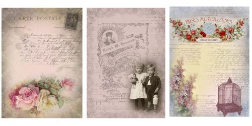 Винтажные этикетки, фоны, открытки, коллажи – Наборы (56 фото)