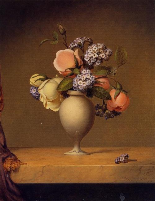 Цветочное великолепие – Натюрморты - художник Мартин Джонсон Хэд (25 фото)