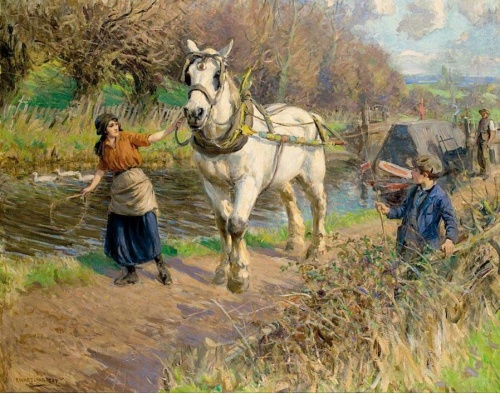 Английский живописец Rowland Wheelwright (1870-1955)