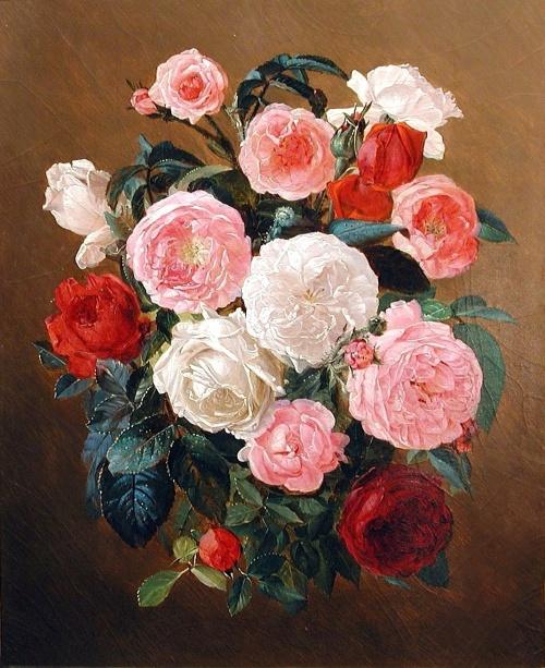 Натюрморты Josef Lauer (Austrian, 1818 - 1881) (23 фото)