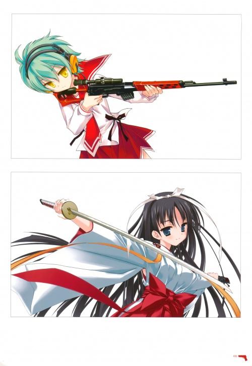 Artbooks / Kobuichi Artbook - Aria the scarlet ammo (122 фото)