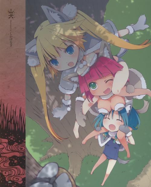Artbooks / Soutennenshoku - Youkai Bishoujo Emaki (78 работ)