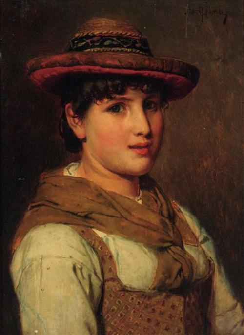 Немецкий художник Adolf Eberle (1843-1914) (34 работ)