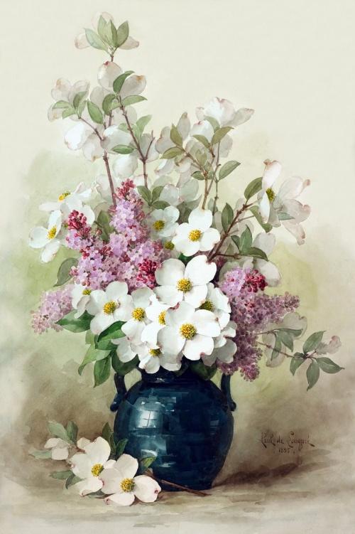 Винтаж - Художник Raoul Maucherat De Longpre - Цветы (76 фото)