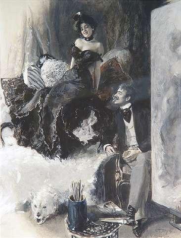 Художник Oscar Arthur Bluhm (German, 1867-1912)
