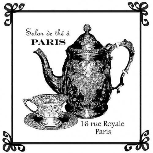 Винтажные штампы и открытки из Франции (31 открыток)