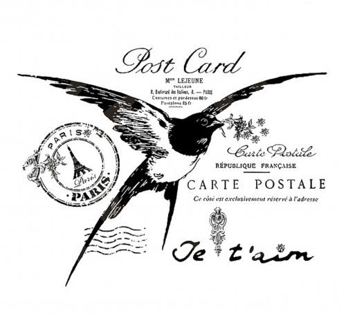 Винтажные штампы и открытки из Франции (31 фото)