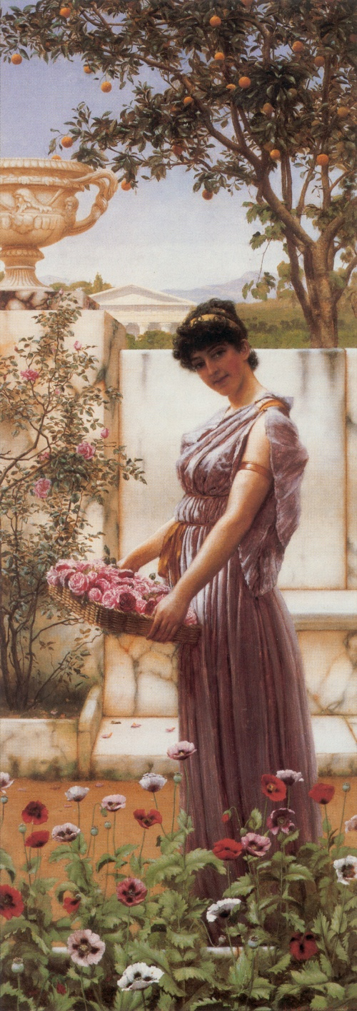 Джон Уильям Годвард (John William Godward) - галерея античных красавиц (128 фото)