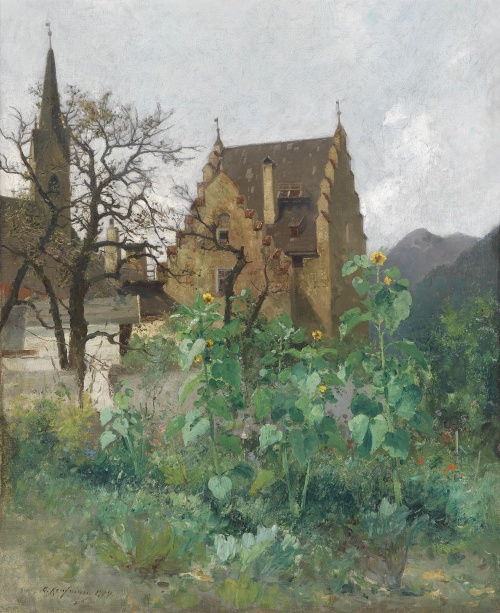 Пейзажи художника Adolf Kaufmann (Austrian, 1848-1916) (33 работ)
