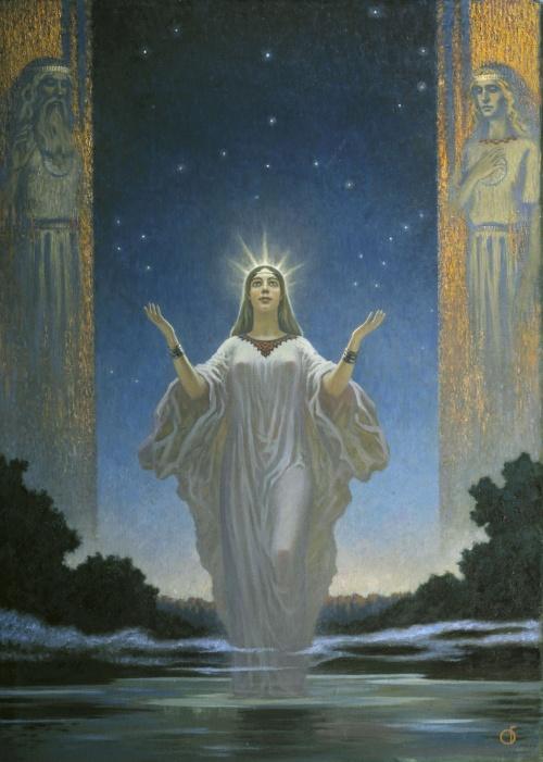 Исторические факты, былины и предания в картинах Бориса Ольшанского (66 работ)