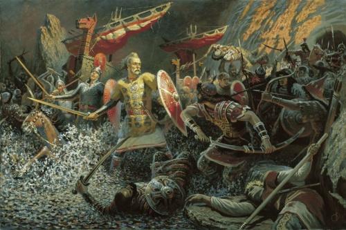 Исторические факты, былины и предания в картинах Бориса Ольшанского (66 фото)