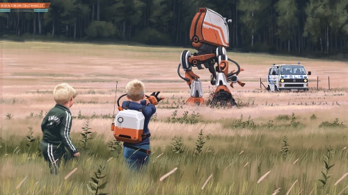 Artworks by Simon Stalenhag (87 работ)
