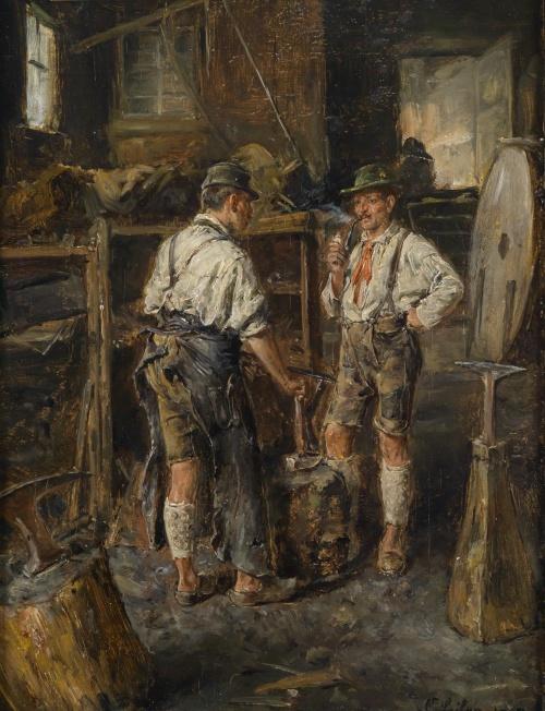Немецкий художник Carl Wilhelm Anton Seiler (1846-1921)
