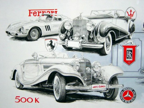 Винтажные открытки - Ретро-Мобильное ассорти (46 фото)